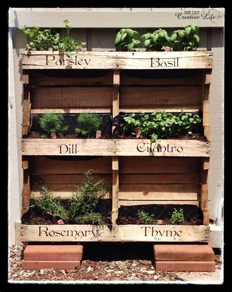 How To Make A Vertical Pallet Herb Garden by Make Your Own Vertical Pallet Herb Garden For Your Patio