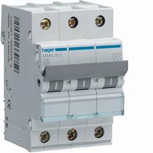 Disjoncteur Différentiel Hager : disjoncteur magn tique 3p 25ka 10a 3 modules hager ref mmn310 disjoncteurs industriel ~ Nature-et-papiers.com Idées de Décoration