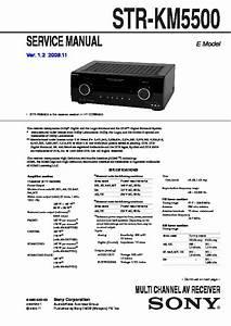 Sony Ht-ddw5500  Str-km5500 Service Manual
