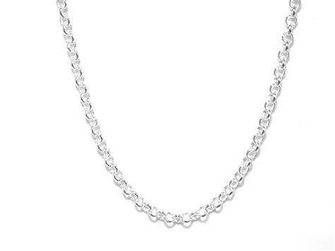 chain mm gauge belcher style  sterling silver