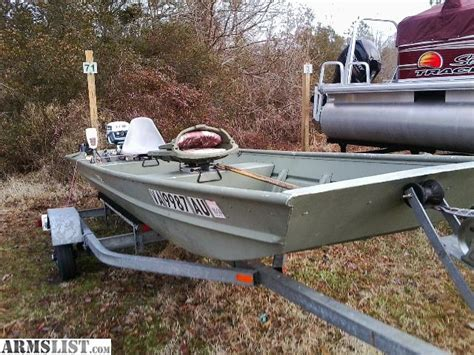 Local Jon Boats For Sale by Armslist For Sale 14ft Boat And Trailer