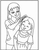 Coloring Mother Daughter Pages Mom Mothers Printable Daughters Child Superior Getcolorings Minions Children Makeup Dad Happy Drawing Getdrawings Template นท sketch template