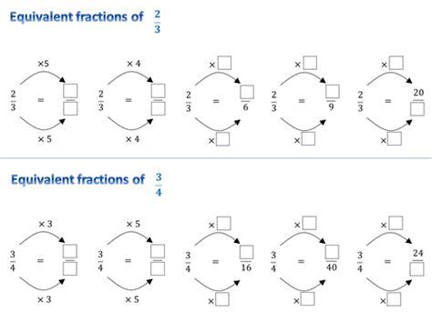 equivalent fractions worksheets fractions