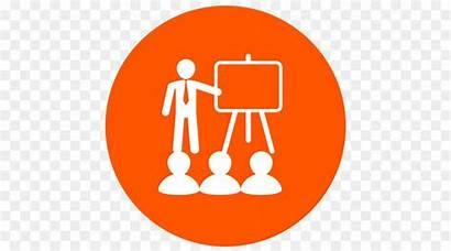 Icon Training Clipart Orange Education Learning Symbol