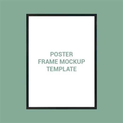 poster frame mockup template design  psd