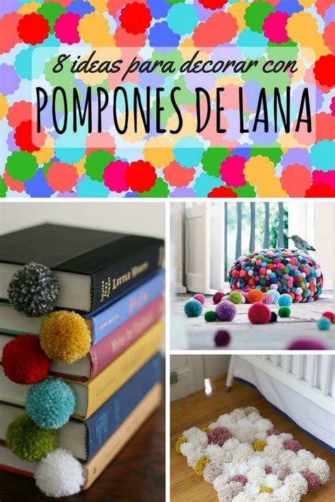 ideas  decorar  pompones de lana son calentitos
