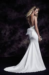 Satin bateau wedding dress style 4614 paloma blanca for Fashion wedding dress