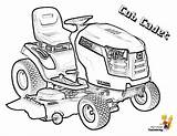 Tractor Coloring Pages Cadet Cub Lawn Print Lawnmower Snowblower Garden Lt1050 Template Boys Tractors sketch template