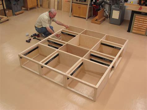 custom ash king size storage bed   drawers matching