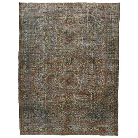 distressed area rug distressed vintage mahal area rug with modern