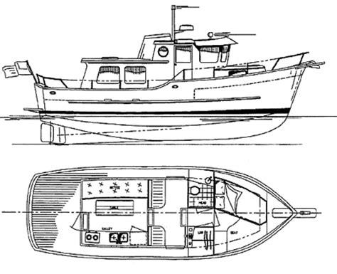 Mini Boat Drawing by Coastal Passage 30 Power Cruiser Trawler Boat Plans