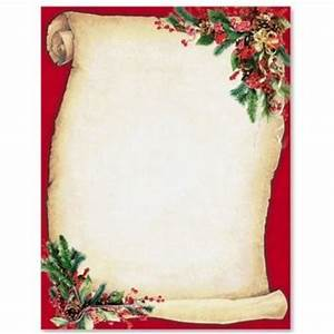 christmas scroll letterhead border papers holiday With scroll letter from santa
