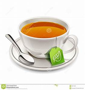 Tasse à Thé : tasse de th avec le sachet th illustration de vecteur illustration du traitement herbal ~ Teatrodelosmanantiales.com Idées de Décoration