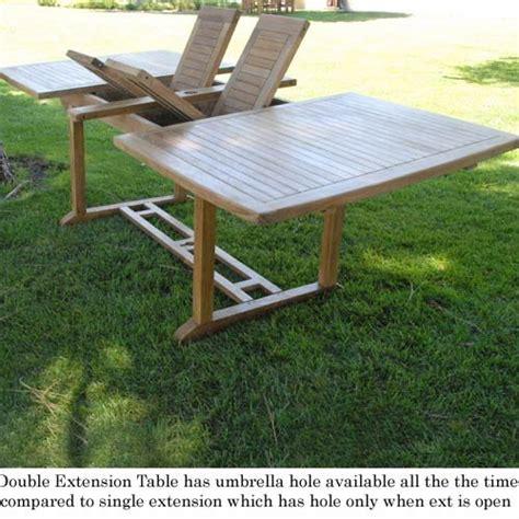 9pc grade a teak outdoor patio dining set