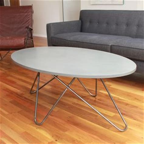 oval concrete coffee table hand crafted custom concrete contemporary vanity with