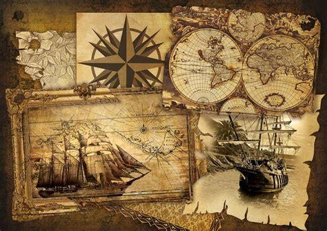 Poster Carte De Vintage by Navire Et Cartes Vintages Poster Mural Papier Peint