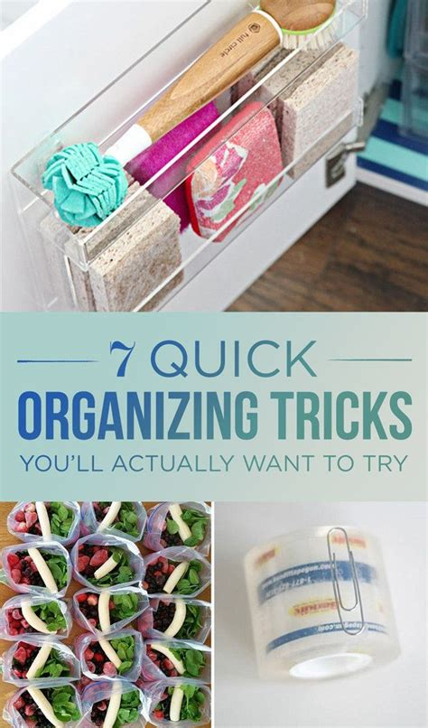 Kitchen Organizing Tricks by 7 Organizing Tricks You Ll Actually Time For