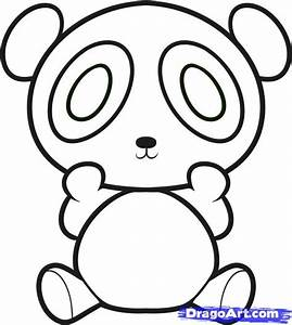 How to Draw a Panda for Kids, Step by Step, Animals For ...
