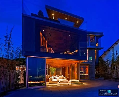 Impressive Glass House In California by Lemperle Glass House Residence 5672 Dolphin Place San