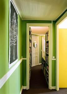 Couleur Peinture Couloir : un appartement parisien haut en couleurs marie claire ~ Mglfilm.com Idées de Décoration
