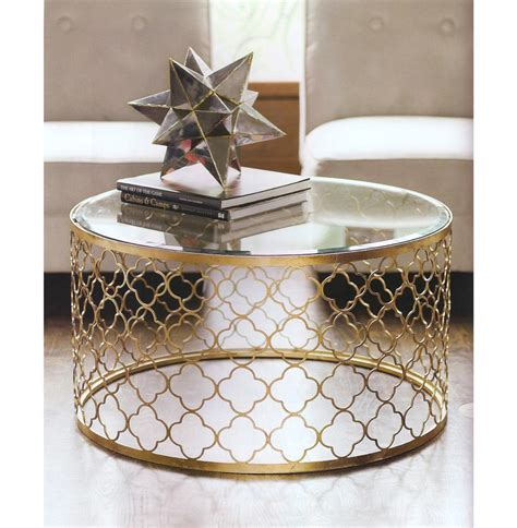 round gold coffee table gable hollywood regency glass gold leaf round coffee table