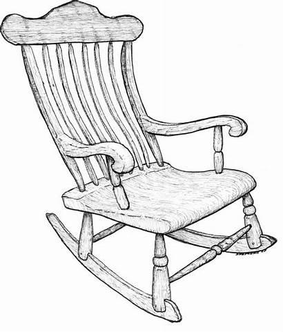 Chair Rocking Drawing Chairs Line Drawings Getdrawings