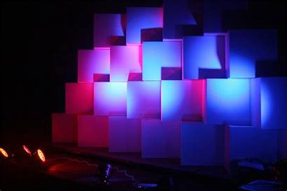 Stage Church Portable Simple Lights Boxes Cardboard