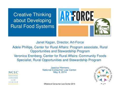 creative thinking  developing rural food systems