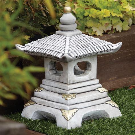 garden ornaments one tier japanese pagoda