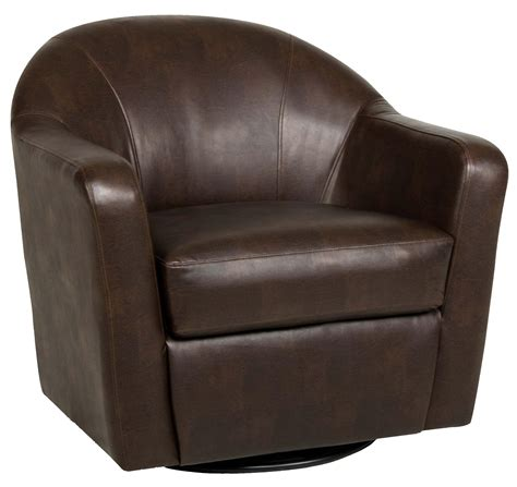 swivel leather chair brown leather swivel arm chair with foot rest and 2638