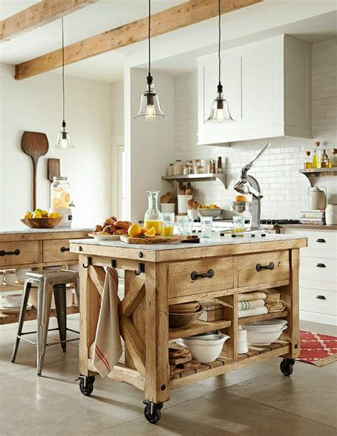 ilots de cuisine mobile le îlot à roulettes qui va pimenter le design de votre cuisine