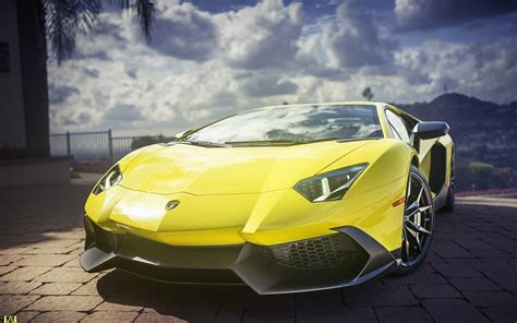 Yellow Lamborghini Aventador Supercar Hd Desktop Wallpaper