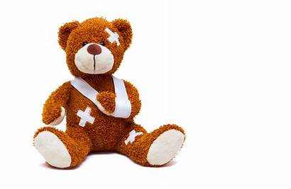 Teddy Bear Broken Injured Background Toy Pediatric