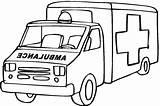 Coloring Ambulance Printable sketch template