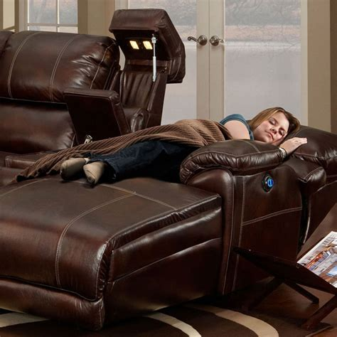Leather Sectional Sleeper Sofa With Chaise by Leather Sectional Sofa Chaise Recliner Interior