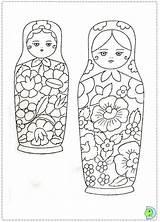 Coloring Matryoshka Dolls Doll Printable Russian Nesting Babushka Dinokids Pattern Colouring Sheets Adult Template Matrioska Boneca Genesis Kokeshi Da Matrioshka sketch template
