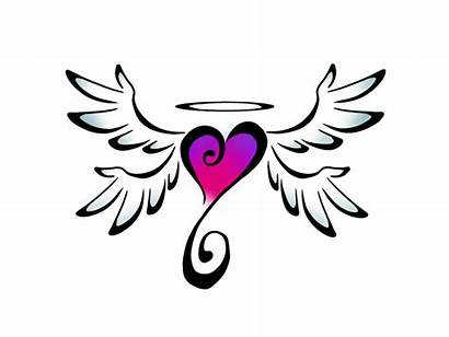Wings Heart Clipart Hearts Designs Draw Angel