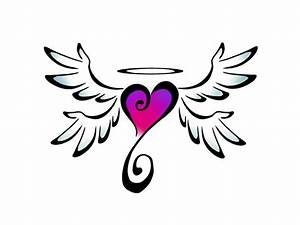 How To Draw A Heart With Wings - ClipArt Best