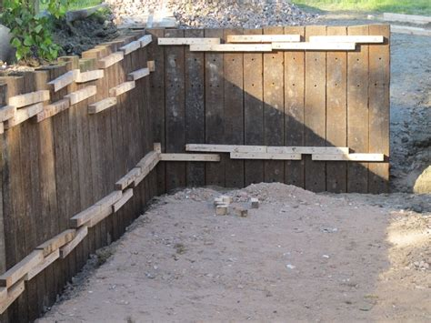 timber retaining wall design timber sleeper retaining wall design for garden beds farmhouse design and furniture