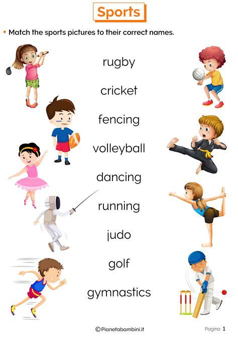 In Inglese by Sport In Inglese Esercizi Per La Scuola Primaria