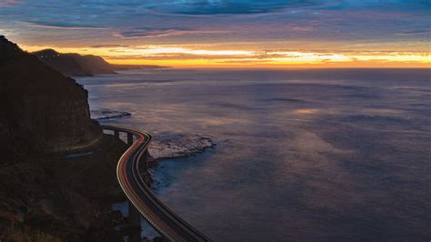 Sea Cliff Bridge On Sunrise Grand Pacific Drive
