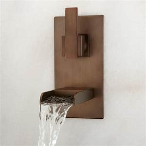 Bathroom: Contemporary Waterfall Faucets With Stylish