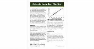 Guide To Iowa Corn Planting