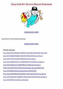 Sony Hcd 441 Service Manual Download By Maybellmckenna
