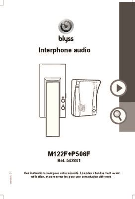 schema interphone audio bitron pdf notice manuel d utilisation
