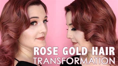 Vintage Rose Gold Hair Transformation Using #mydentity By