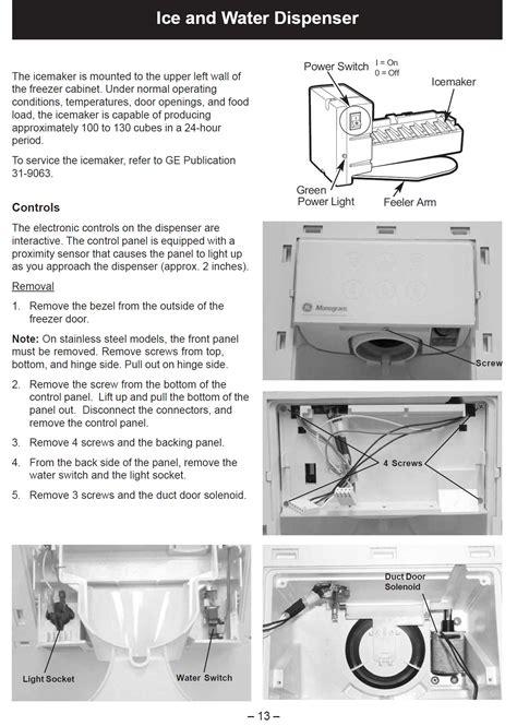 replace  ice funnel   ge monogram side  side built  refrigerator
