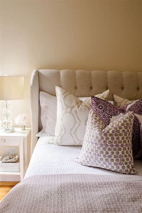 Ikea Tufted Headboard by Linen Tufted Headboard Contemporary Bedroom With