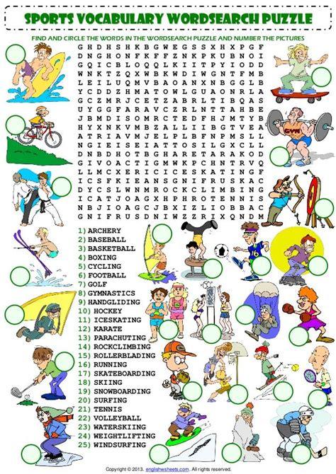 image result  worksheet sport p