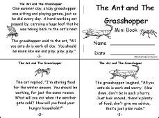 Halloween Books For Kindergarten Online by The Ant And The Grasshopper A Fable By Aesop